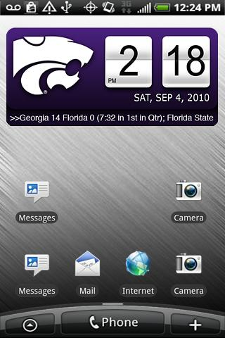 Kansas State Wildcats Clock XL Android Sports