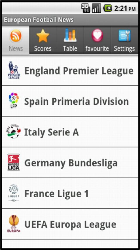 European Football News Android Sports