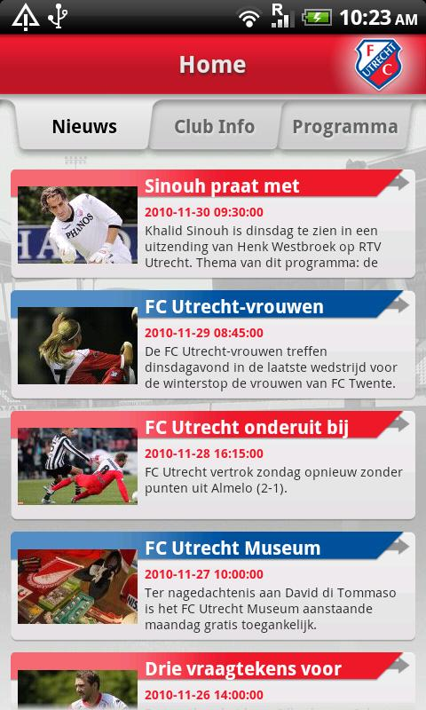 FC Utrecht Android Sports