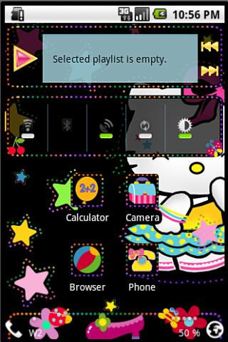 Open Home Skin Hello Kitty II Android Themes