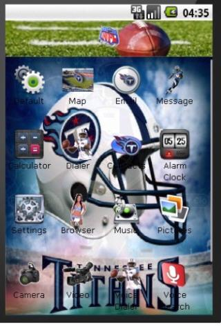 Tennessee Titans 2010 Theme Android Themes