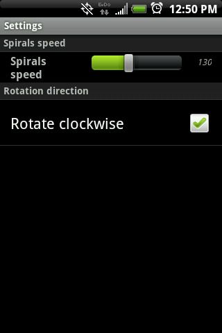 Hypnotic Spiral Live Wallpaper Android Themes