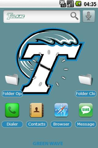 Tulane U. w/ iPhone icons Android Themes