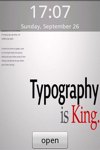 Typography is King Android Themes