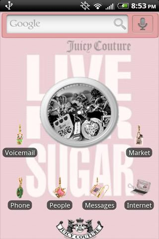 Juicy Couture Charms Theme Android Themes