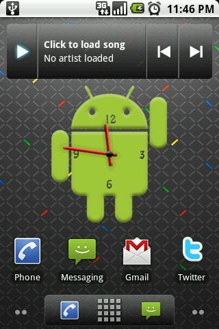 Android Big Clock Widget V2 Android Themes