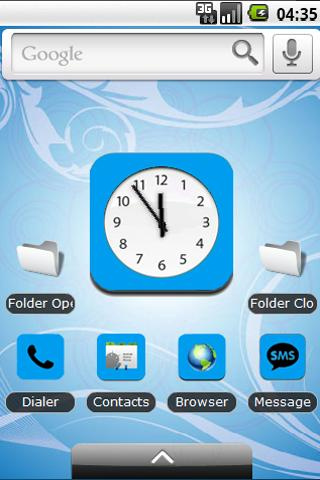 Baby Blue Theme (iPad/iPhone) Android Themes