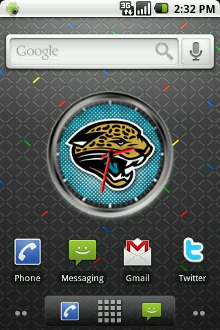 Jaguars Clock Widget Android Themes