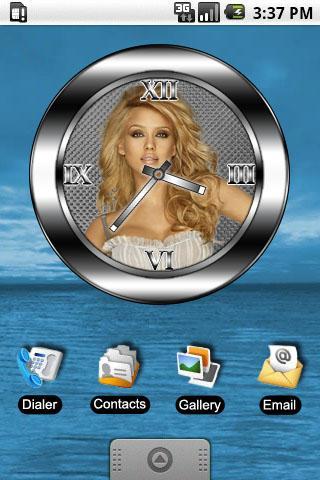 Jessica Alba clock widget Android Personalization