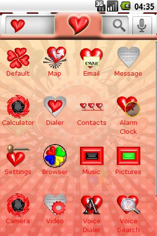 Theme: Love Android Themes