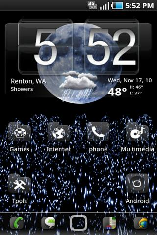 Blue Moon Live Wallpaper Android Themes