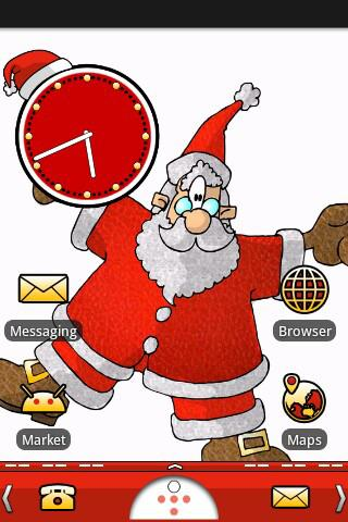 Santa Splat Theme Android Themes