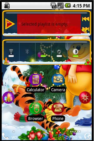 Open Home Skin Winnie P  Xmas Android Themes