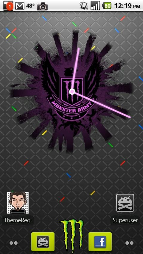 Monster Energy PINK Clock Android Themes