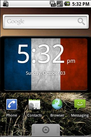 French Digital Clock Widget Android Themes