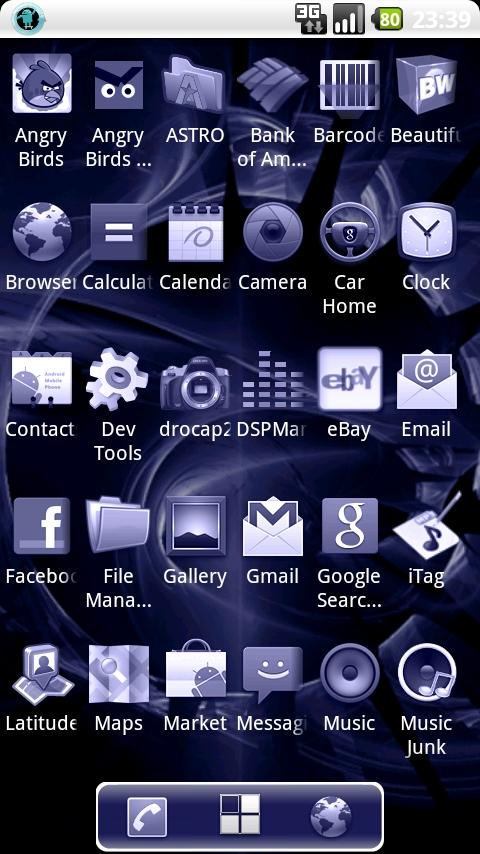 ADW Launcher Cold Fusion Theme Android Themes