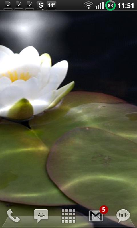 Nymphaea Water Lily LW Android Themes