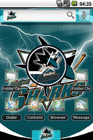 Theme: San Jose Sharks Android Themes