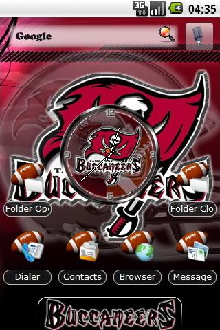 Tampa Bay Buccaneers theme Android Personalization
