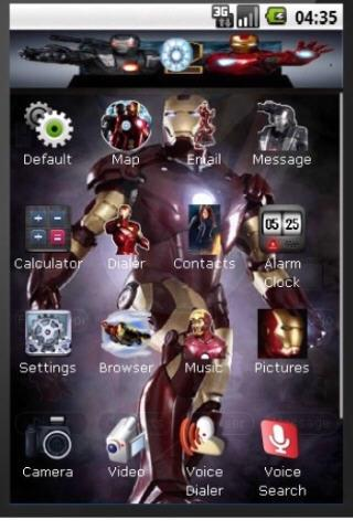 Iron Man 2 Theme + Ringtone Android Themes