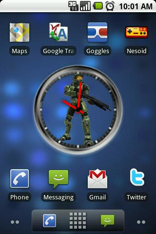 Halo Master Chief Clock Widget Android Themes