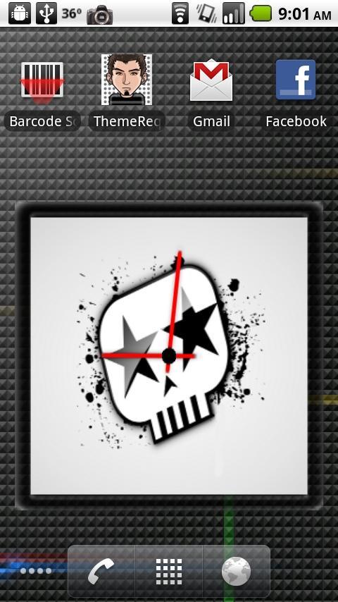 Rockstar Clock Widget Android Themes