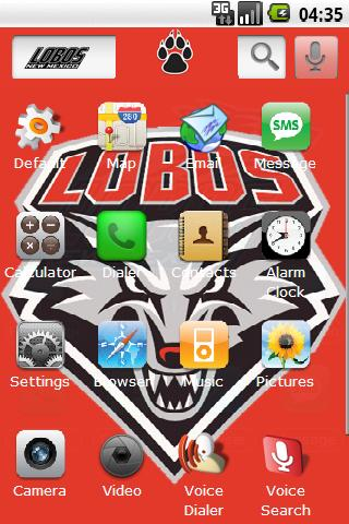 University of New Mexico Android Themes