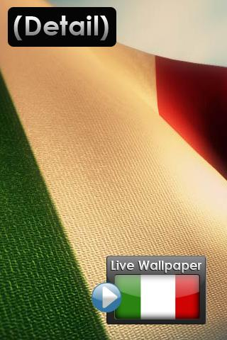 ... Flag of Italy Live Wallpaper Android Themes