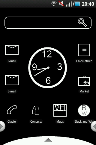 Black and White 2 Theme Android Themes