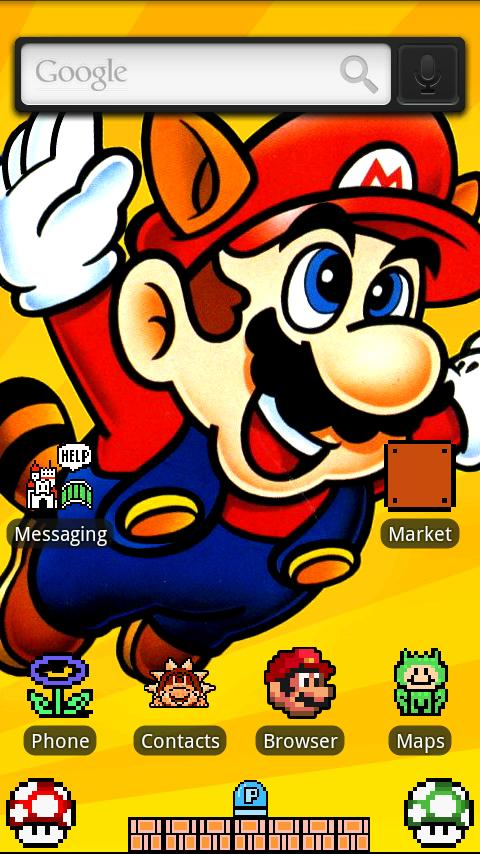 8-bit Mario SNES Theme – HD Android Themes