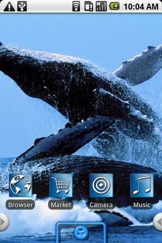 Beautiful Whales Android Personalization