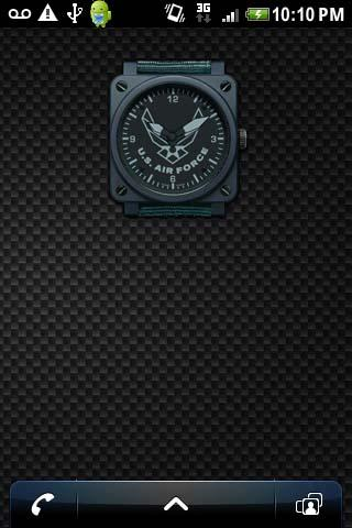 AIR FORCE CLOCK WIDGET Android Themes