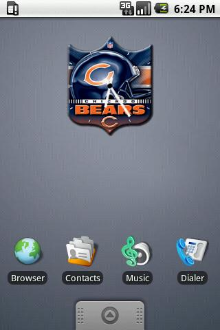 Chicago Bears Clock Widget 2 Android Themes