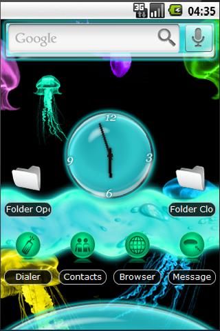 HD Neon Jellyfish Ocean Theme Android Themes