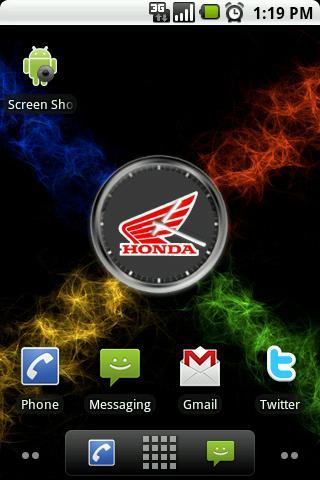 Honda Motorsports Clock Widget Android Themes