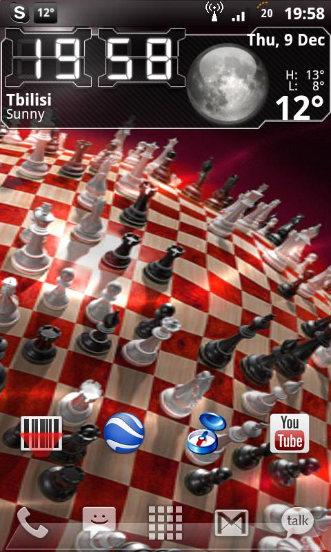 3D Chess Planet Live Wallpaper Android Themes