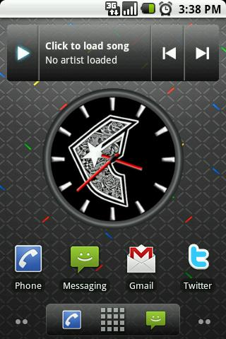 Famous Star Big Clock Widget Android Themes