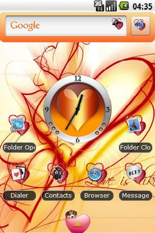 Theme: Hearts Love Android Themes