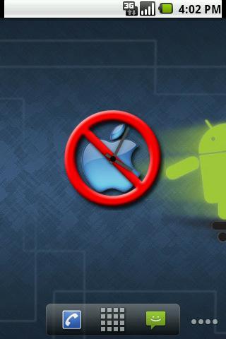 Anti-Apple Clock Widget Android Themes