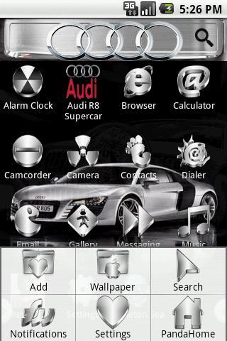 Theme:AudiR8 Supercar Android Themes