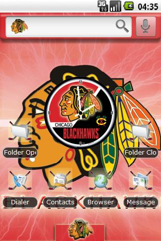 Theme: Chicago Blackhawks Android Themes