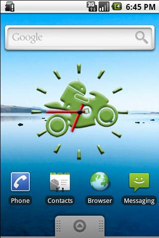 Andy on Bike Clock Widget Android Themes