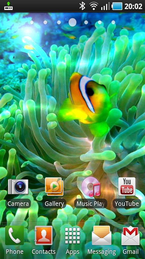 Ocean Polyps Live Wallpaper Android Themes