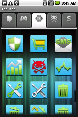 Tha Icon: Light Blue Android Themes