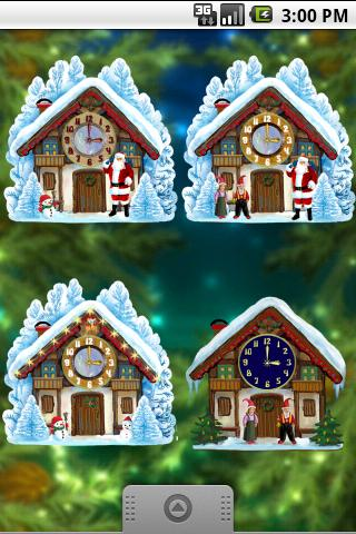 Christmas House Clock Android Themes