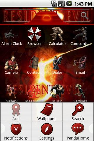 HD Theme:Resident Evil Android Themes