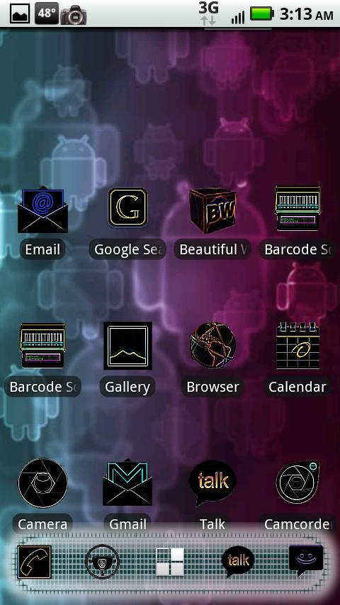 ADW Blacklight Theme Android Themes