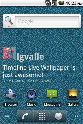 TweetLive Timeline Wallpaper Android Themes