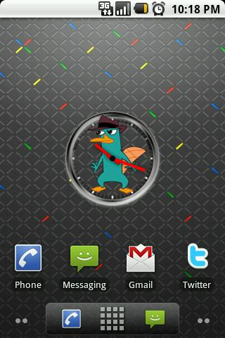 Perry the Platypus ClockWidget Android Themes