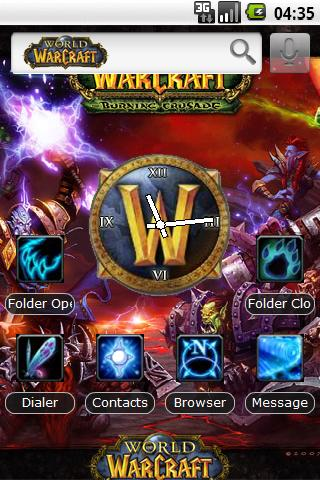 Theme: World of Warcraft Android Themes